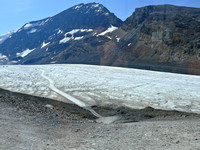 Down onto the glacier