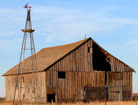 Old Barn and Windmill