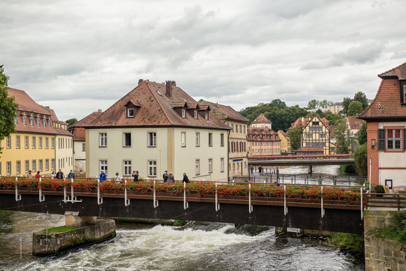 Bamberg: View by the old mill